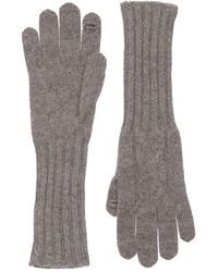 Loro Piana My Gloves To Touch ニットカシミアグローブ - グレー