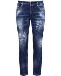 DSquared² 16.5cm Skater Cotton Denim Jeans - Blue