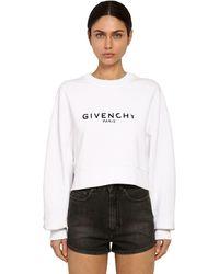 Givenchy Destroyed Logo Cotton Jersey Sweatshirt - White