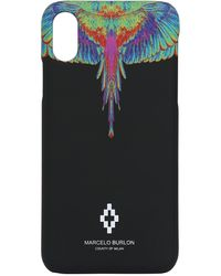 Marcelo Burlon Wing Print Tech Iphone X/xs Case - Schwarz