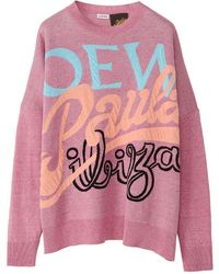 Loewe Paula's Ibiza リネンブレンドニットセーター - ピンク