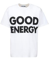 Moschino - オーバーサイズプリントコットンtシャツ - Lyst