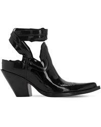 Maison Margiela Ботинки Из Лакированной Кожи 75мм - Черный