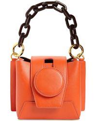 Yuzefi Daria Leather Top Handle Bag - Orange