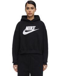 Nike Sweat-Shirt En Coton Mélangé À Capuche - Noir