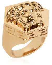 Versace - Multi Angular Medusa Ring - Lyst