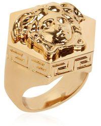 Versace - Multi Angular Medusa Ring - Lyst