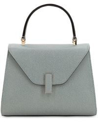 Valextra Mini Iside Grained Leather Bag - Grey