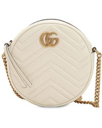 Gucci - Circle Gg Marmont ミニ レザーバッグ - Lyst