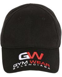 Balenciaga Gym Wear Baseball Cap - Black