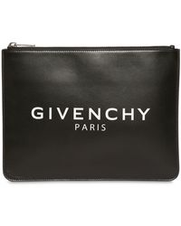Givenchy - Black Large Zipped Pouch - Lyst