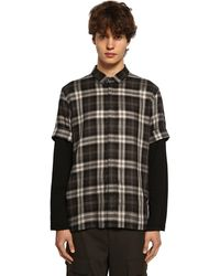 Neil Barrett テンセルチェックシャツ - ブラック