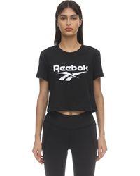 Reebok コットンジャージーtシャツ - ブラック