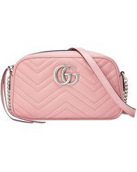 Gucci Каркасная Мини-сумка GG Marmont - Розовый