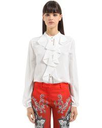 Roberto Cavalli | Ruffled Silk Shirt | Lyst