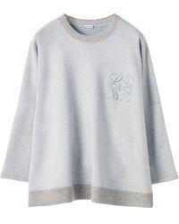Loewe コットンブレンドフリーススウェットシャツ - グレー