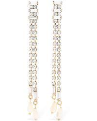 Rosantica - Luci Slim Chandelier Crystal Earrings - Lyst