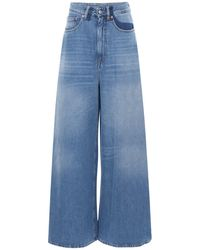 MM6 by Maison Martin Margiela Ausgestellte Jeans Aus Baumwolldenim - Blau