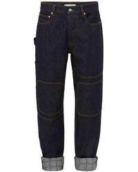 JW Anderson Jeans In Denim Di Cotone Con Logo - Blu
