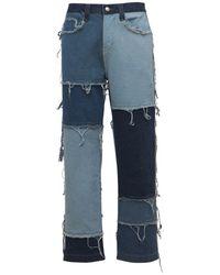 Jaded London Skater-jeans Mit Patchwork - Blau