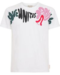 Marni コットンジャージーtシャツ - ホワイト