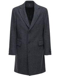 Z Zegna Шерстяное Пальто - Серый