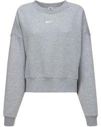 Nike Sweatshirt Aus Fleece - Grau