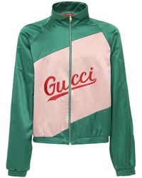 Gucci - グッチ スクリプト コットンヴィスコース ジャケット - Lyst