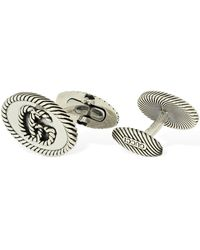 Gucci Double G Cufflinks - Metallic
