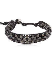 Colana - Hematite & Lava Beads Bracelet - Lyst