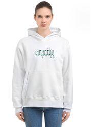Resort Corps Empathy Hooded Cotton Blend Sweatshirt - White