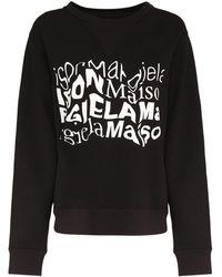 Maison Margiela コットンジャージースウェットシャツ - ブラック