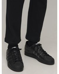 adidas Originals Superstar レザースニーカー - ブラック