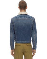 Givenchy フェイクシアリング付 コットンデニムジャケット - ブルー