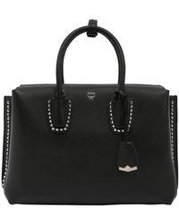 MCM - Medium Milla Studded Leather Bag - Lyst
