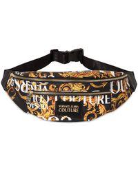 Versace Jeans Baroque Print Nylon Belt Bag - Black