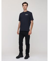 Moncler Genius Fragment コットンジャージーtシャツ - ブルー