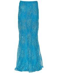 Alberta Ferretti - Lace Long Skirt - Lyst