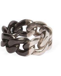 Maison Margiela - Bi Color Silver Chain Ring - Lyst