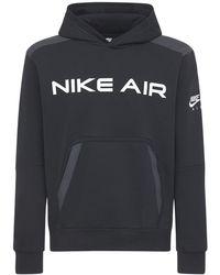 Nike Bedrucktes Kapuzensweatshirt - Schwarz
