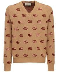 Gucci Double G ジャカードウールセーター - マルチカラー