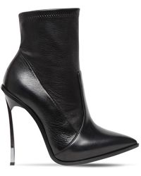 Casadei 120mm Maxi Blade Stretch Leather Boots - Black