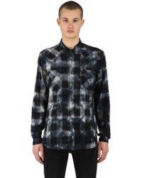 Ksubi - Mosh Indigo Check Cotton Shirt - Lyst