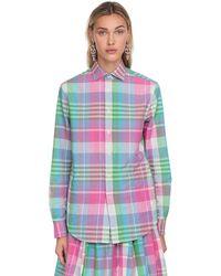 Ralph Lauren Collection Chemise Madras En Coton À Carreaux - Multicolore