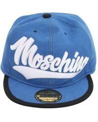 Moschino Кепка Из Хлопка - Синий