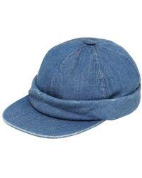 Beton Cire Cappello Sailor In Denim Realizzato A Mano - Blu
