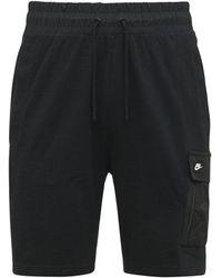 Nike Essential ライトウェイトコットンハーフパンツ - ブラック