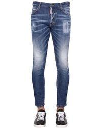 DSquared² 17.5cm Jeans Aus Denim Im Boot Cut - Blau