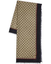 Gucci Gg Silk & Modal Scarf - Многоцветный