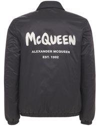 Alexander McQueen Нейлоновая Куртка С Логотипом Graffiti - Черный